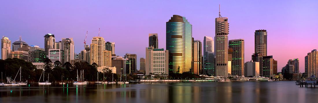 Brisbane City Sunrise Panorama Photos 171 Australianlight
