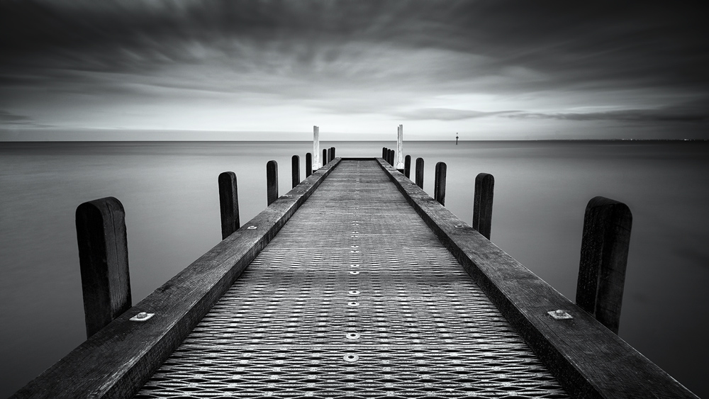 Olivers hill jetty bw toned photos australianlight fine art landscape photography and framed prints