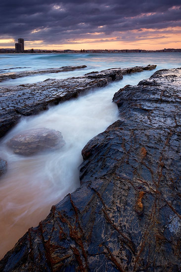 Currumbin Twilight - Sunset Seascape - Currumbin Alley Queensland